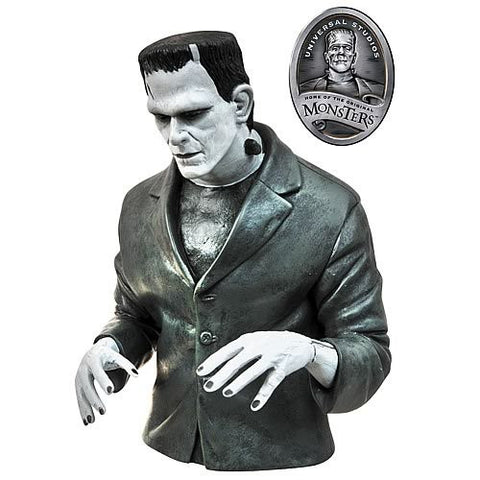 Universal Monsters - Frankenstein Black & White Bust Bank/Money Box