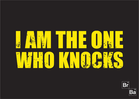 Breaking Bad - I Am The One Who Knocks 70 x 50cm Mat