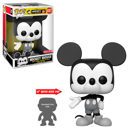 Mickey Mouse - 90th Anniversary Mickey Mouse Black & White 10 Inch Pop! Vinyl Figure - Pre-Order