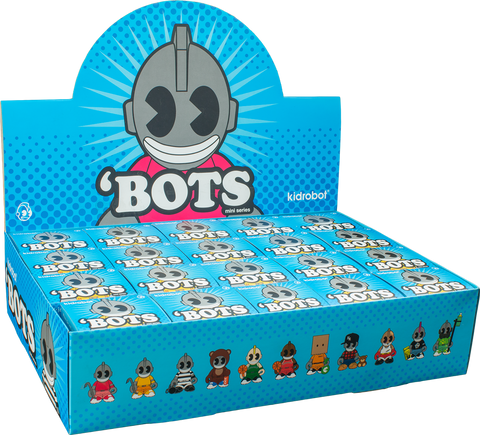 "Kidrobot - 'Bots 4"" Mystery Mini Figures: Case of 20 Blind Boxes"