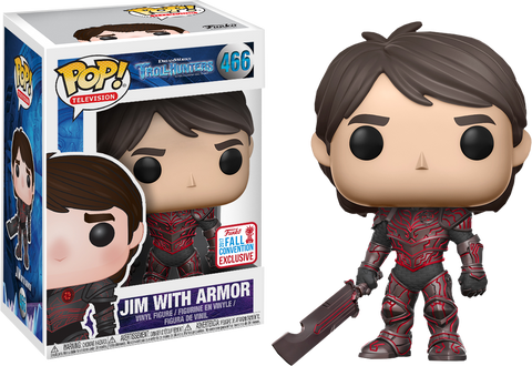 NYCC 2017 Exclusive - Trollhunters: Jim with Red Armor Pop! Vinyl Figure