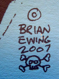 Brian Ewing - 2007 Blue Skull Signed Limited Edition Print