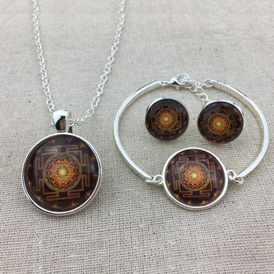 Sacred Sri Yantra Jewelry Set
