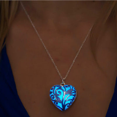 Glowing Heart Chakra Pendant Necklace