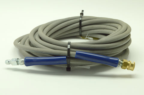 Pressure washer hose, 50ft, 4000psi, gray, w/ quick connects