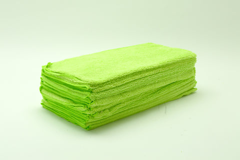 Micro Fiber Towel, Green, 16x16, 24pack