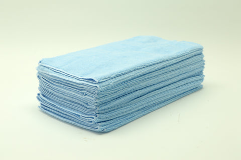 Micro Fiber Towel, Blue, 16x16, 24pack