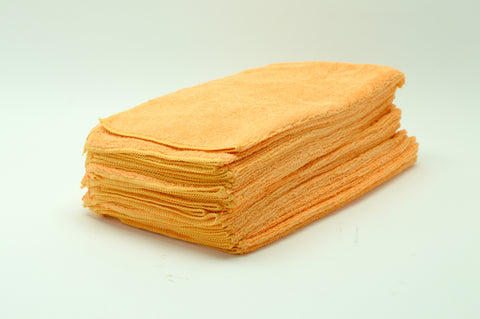 Micro Fiber Towel, Orange, 16x16, 24pack
