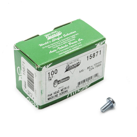 Screw, Philips Pan, M5-.80X10mm (100 Pack)