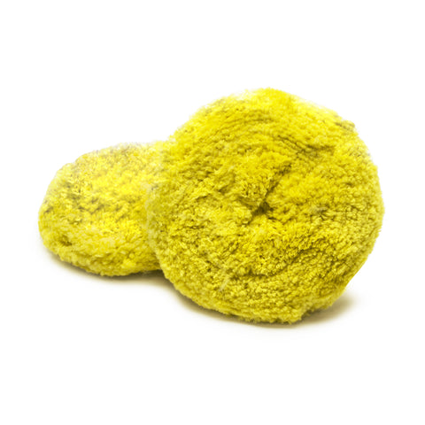 Yellow, Double Sided, Wool Blend, Polish Pad, Each