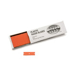 Plastic Double Sided Razor Blade, Orange (100 pack)