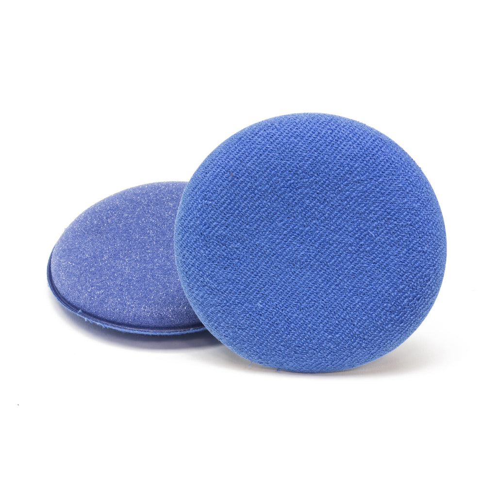 Round Blue Applicator Pad, Foam/Microfiber