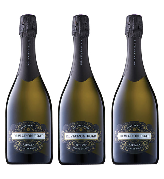 Deviation Road Beltana Blanc De Blancs 2013 Triple Pack (RRP $300 WM $248.90)