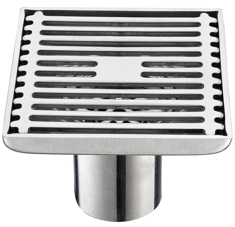 Royal H&H Modern Square Shower Floor Drain with Removable Strainer Stainless Steel …