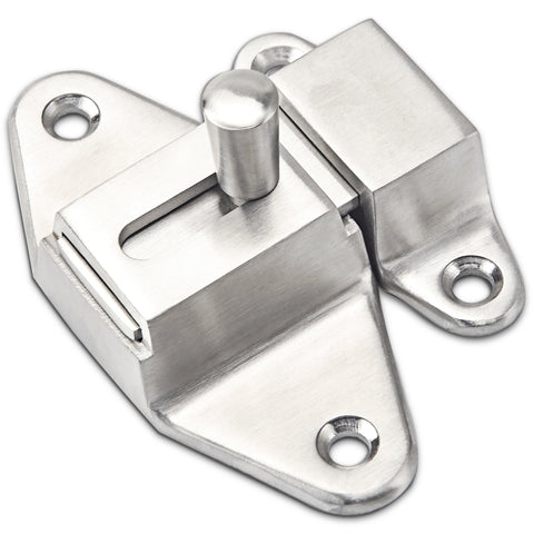 Heavy Duty Slide Latch Lock Door or Secondary Gate Guard Solid Stainless Steel
