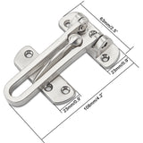 Heavy Duty Swing Bar Lock as Secondary Door Lock for Home Hotel Office Solid Stainless Steel
