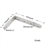 Shelf Brackets Stainless Steel L Corner Joint Heavy Duty 4pcs