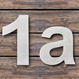 Large Modern House Numbers 6 Inch Floating Effect Stainless Steel