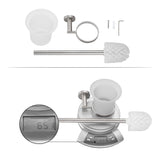 Bathroom Stainless Steel Wall Mount Toilet Brush