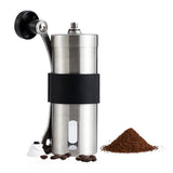 Fine Manual Coffee Grinder Brushed Stainless Steel Extra Burr and Brush Set