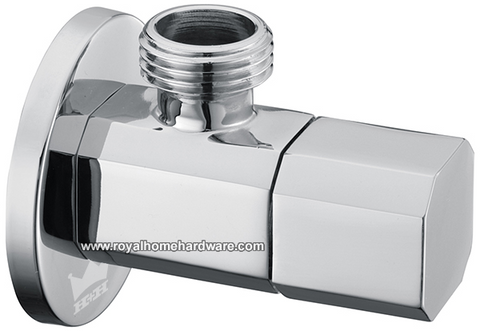 Polished Chrome Single Valve Stop Diverter Octagonal Knob 1/2-inch Male IPS Solid Brass
