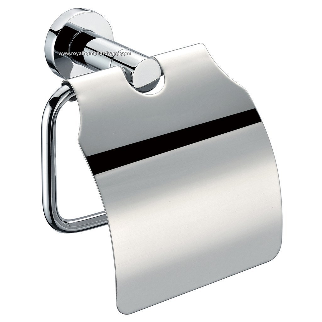 Polished Chrome Toilet Paper Roll Holder Stainless Steel Royal