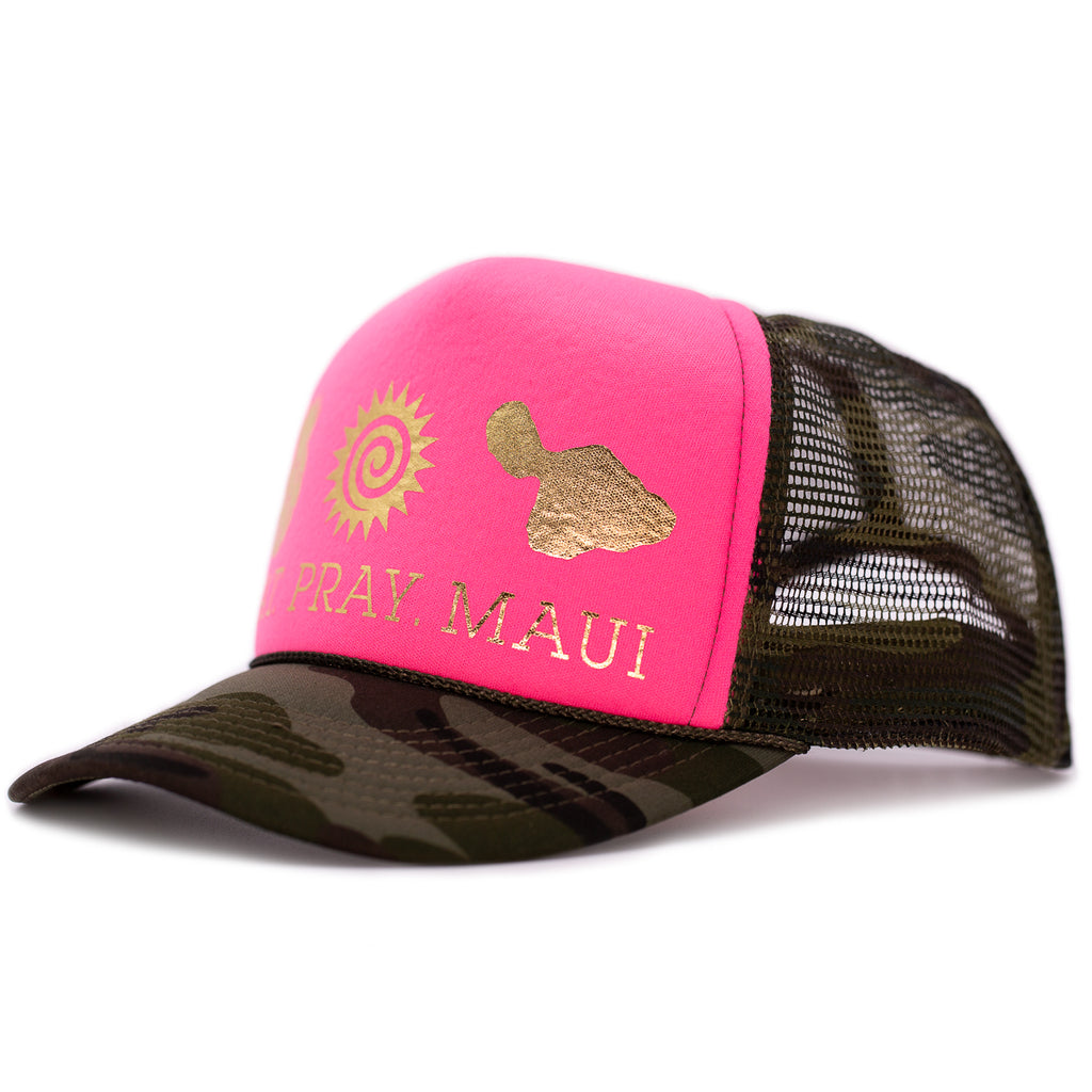 Original Trucker Camo Pink & Gold
