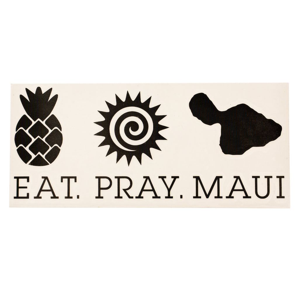 "EAT PRAY MAUI 7"" Decal - Black"
