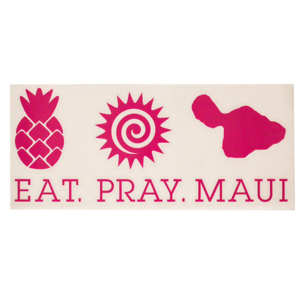 "EAT PRAY MAUI 7"" Decal - Pink"
