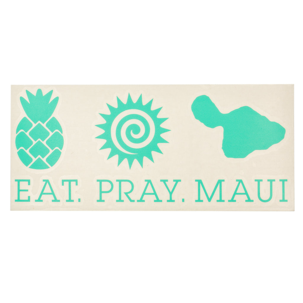 "EAT PRAY MAUI 7"" Decal - Mint"