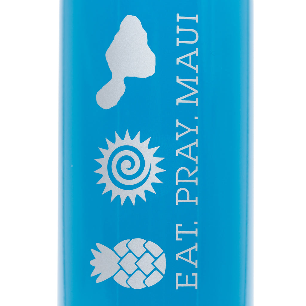 EAT PRAY MAUI® Bottle > NEON BLUE