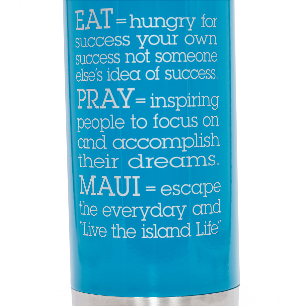 EAT.PRAY.MAUI® Bottle - NEON BLUE