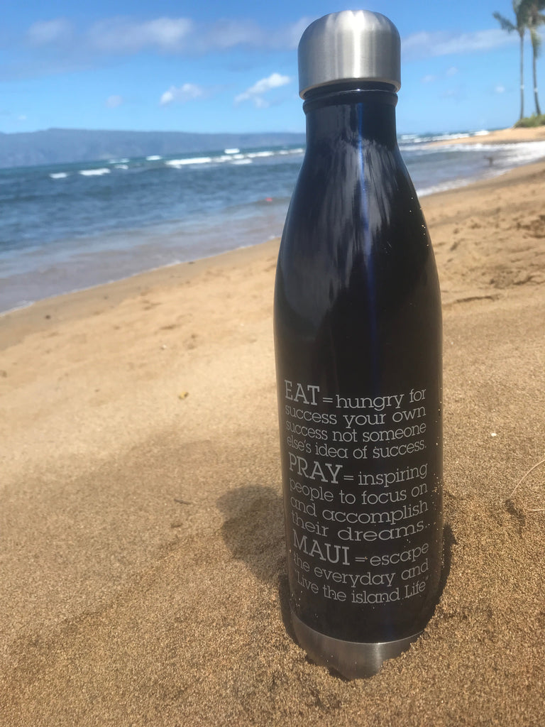 EAT PRAY MAUI® Bottle > NAVY BLUE