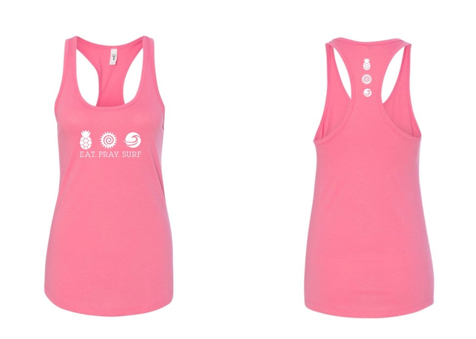 EAT PRAY SURF COLLECTION Signature Tank -  Hot Pink