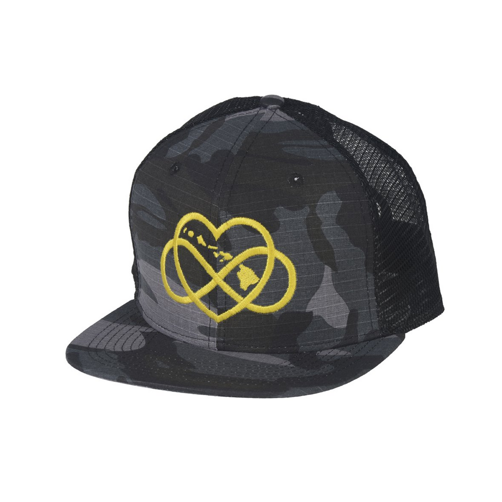 INFINITE ALOHA Mesh Snapback Yellow