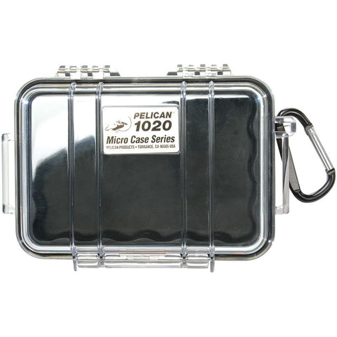 Pelican 1020 Micro Case Clear With Black
