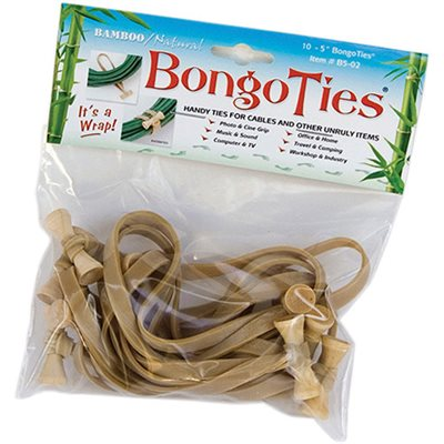 Bongo Ties Natural 10 Pack