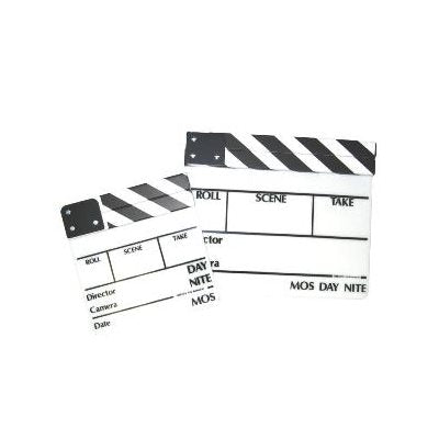 CLAPPER WHITE BOARD B/W STICKS MEDIUM