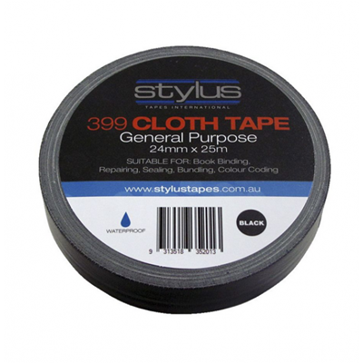 STYLUS GAFFER TAPE BLACK 24MM X 25M