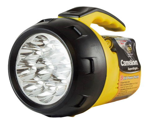 CAMELION SUPERBRIGHT 9 LED TORCH + AA