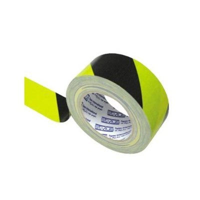 HAZARD CLOTH TUNNEL TAPE 100MMX25M