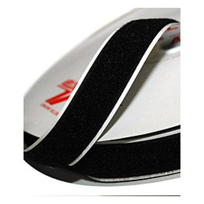 BLACK VELCRO LOOP 1M X 25MM