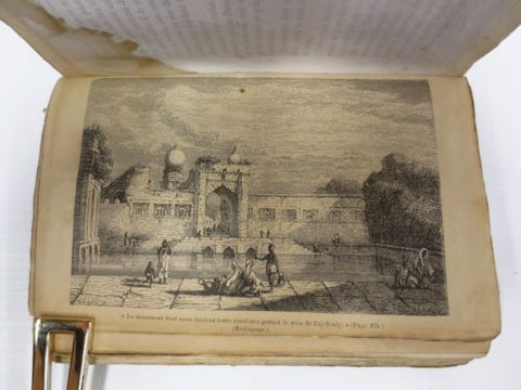 Antique 1817 Illustrated Travel Book, Louis Jacolliot Voyage au Pays des Brahmes
