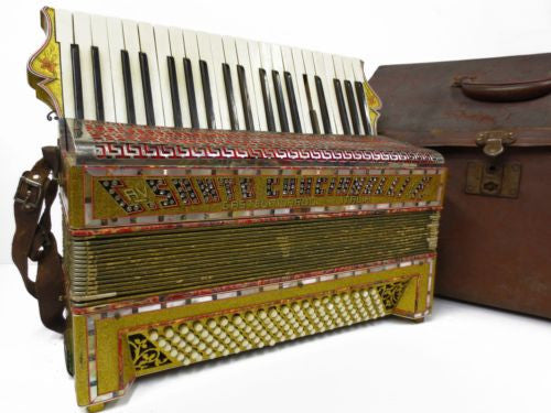 Rare Antique Sante Crucianelli Castelfidardo Italia Piano Accordion 120 Basses 4