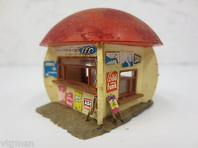 Vintage Faller Train House, Food Stand Mushroom, Beer, Ice Cream, Sausages