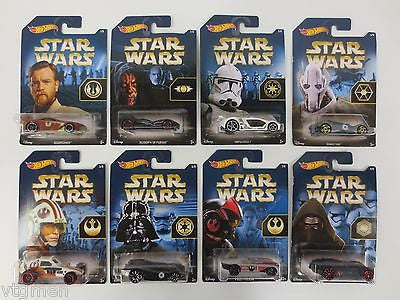 Complete Star Wars Hotwheels Series 1 to 8, Force Awakens Hotweels Car Series