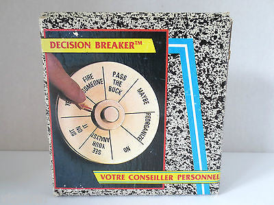Vintage Business Office Game Wheel Decision Breaker, Fire Someone, Pass the Buck