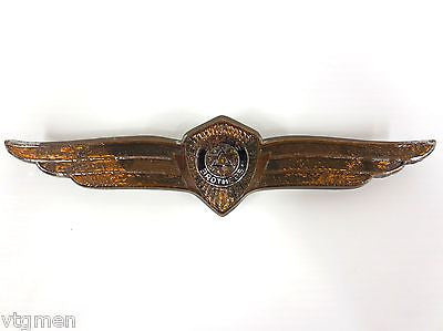1930's Dodge Brothers Car Emblem, Winged Badge Cloisonne & Porcelain, Original