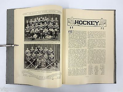 Pre-War 1931-1932-1933 Montreal Catholic High School Yearbooks, Hockey, Football