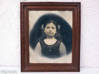 Antique 1920s Portrait of a Young Girl, Photo Portrait Signed L. Legarcon, Paris